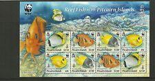 PITCAIRN ISLANDS- SGMS811 REEF FISH  MINISHEET  MNH