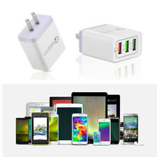 3 Port QC 3.0 Fast Quick USB Charger Hub Wall Charger Power Adapter US EU Plug