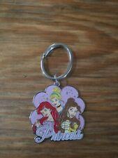 Disney Key Chain Enamel Metal Keychain Ring Princess Ariel, Cinderella, & Belle
