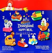 1995 McDonalds MIP Disneyland Adventures Set of 8 & U3 Toy