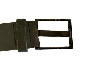 Industrie Mens Black Leather Belt Size L
