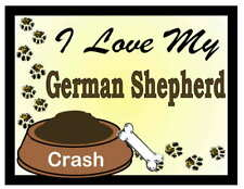 German Shepherd Personalized I Love My German Shepherd Magnet