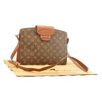 LOUIS VUITTON Monogram Courcelles Shoulder Bag M51375 LV Auth sa2175