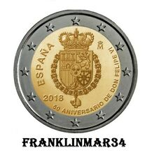 MONEDA CONMEMORATIVA DE 2 EUROS DE ESPAÑA 2018. EMISIÓN SIN CIRCULAR DIFÍCIL
