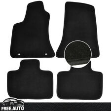 For 11-16 Chrysler 300 Black Nylon Front & Rear Floor Mats Carpet
