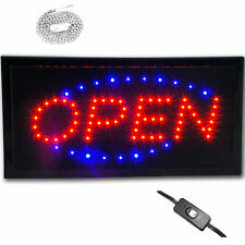 "Bright Lighted 19x10"" Led Store Restaurant Business Bar Open Sign Animated neon"