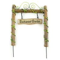 Enchanted Fairy Gnome Pixie Sprite Garden Sign Archway Home Spring Decoration