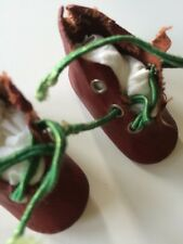 Antique Dolls Shoes Red Vintage Doll Costume Clothing Montreal As Is Shabby Prim