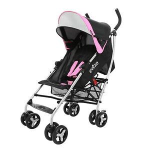 Evezo Maxord Compact Lightweight Travel Umbrella Baby Stroller w/ Storage Basket