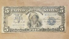 New Listing1899 $5 Large Size Indian Chief Silver Certificate 280m Mule Note Elliot White