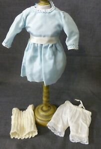 DRESS & UNDERWEAR FOR ANTIQUE DOLL, DOLL CLOTHING, VINTAGE OUTFIT,