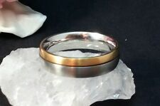 Ehering Ring 14 k 585 Gelbgold - Edelstahl , 62 Große, 6 Gramm