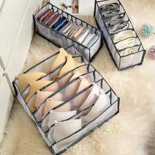 3PCS Foldable Drawer Organizer Divider Closet Underwear Bra Sock Ties Storage