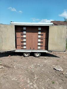 Pigeon Loft Transport hutch box trailer