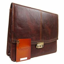 Faux Leather Business Briefcase Work Office Documents Satchel Flight Carry Bag