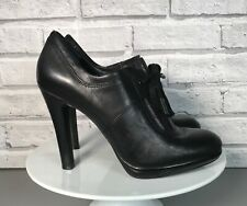 Autograph Marks & Spencer Black Genuine Leather Shoe Boots High Heel Size UK 5.5