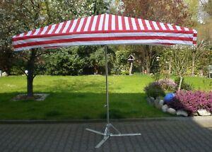 Marktschirm 2 x 3 m Profi Schirm Marktstand Sonnenschirm inkl. 20kg Fuß !!!
