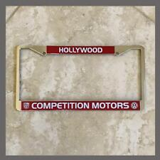 Competition Motors VW Volkswagen License Plate Frame Hollywood CA