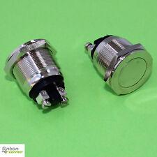 Vollmetall Taster Flach Schraubösen 19 mm Öffner 230 V / 2 A Metall Silber (295