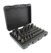 "ABN Star Torx Bit Socket 52-Piece Set SAE 1/4 3/8 1/2"" Inch 4-Point Square Drive"