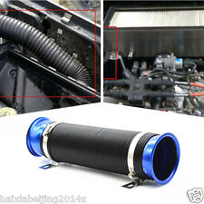 """Blue Car 3"""" Adjustable Scalable Flexible Turbo Cold Air Intake Hose Pipe System"""