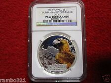 2012 Tuvalu Tasmanian Wedge Tailed Eagle NGC PF67 Ultra Cameo, 1oz Silver coin