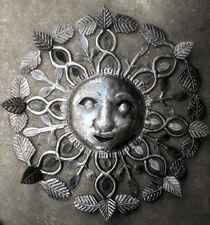 "Big Metal Sun Haitian Art For Sale Wall Art Decor Caribbean Home Crafts Size 24"""