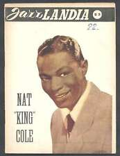 Magazine Jazz Landia Nat King Cole On Cover 1955