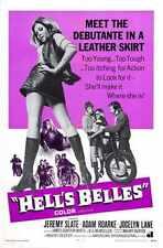 Hells Belles Poster 01 Metal Sign A4 12x8 Aluminium