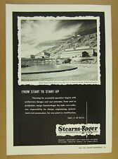 1957 Copper Concentrator at Silver Bell AZ photo Stearns-Roger vintage print Ad