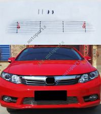 ABS Crossband Mesh Lower Vent Grille Grill Fit For Honda CIVIC 2012-13
