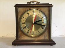 Art Deco Reloj De Mármol Y Metal convertido a la batería mecanismo funciona Pesado