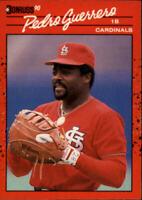 1990 Donruss St. Louis Cardinals Baseball Card #63 Pedro Guerrero