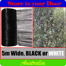 5m Width - Anti Bird Netting, Extruded Pest Net / Mesh - Fruit Tree / Plant GSM