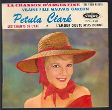 PETULA CLARK 45T EP BIEM VOGUE EPL 8045 Vilaine Fille, Mauvais Garçon GAINSBOURG