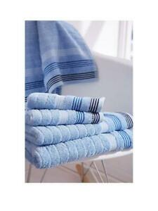 Catherine Lansfield Garrett Stripe Bath Sheet Towels 9 x 140 cm Set of 2 Blue