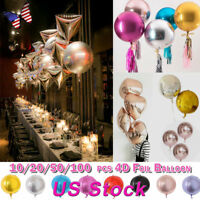 24'' 4D Aluminum Foil Balloon Wedding Birthday Party Decor 1/10/20/50/100Pcs Kit