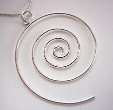 Wire Spiral Pendant 925 Sterling Silver Corona Sun Jewelry
