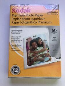 Kodak Premium Photo Paper 4X6 Gloss Brilliant Sheets Sealed Box (60) Bin Z