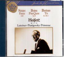 Schubert: Fantasia 934; Brahms: Quartet O.60 ; Beethoven: Trio: 9/Heifetz CD