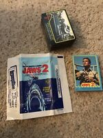 1978 Topps JAWS 2 (85) Trading Card Lot + Wrapper.