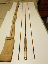 Vintage split cane fishing rod featherweight 9 foot 2 tips