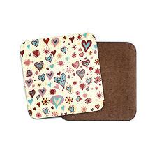 Pretty Love Hearts Coaster - Cute Girlfriend Mum Auntie Valentines Gift #13015