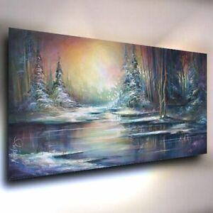 Landscape, painting, Moody, CONTEMPORARY Michael Lang Original ART, Modern Decor