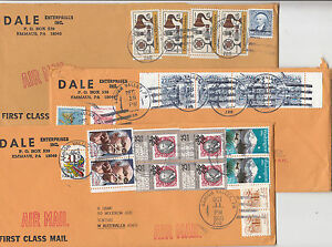 Stamps 1995-97 various USA on group of 5 covers sent airmail to Australia, nice