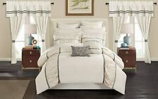 Chic Home Mayan 24 Piece Bed in a Bag Comforter Set, Queen, Off-White