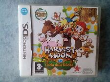 HARVEST MOON L'ISOLA DELLA FELICITà - NINTENDO DS 3DS 2DS PAL ITALIANO COMPLETO