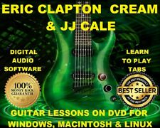 Eric Clapton Guitar TAB Lesson CD 950 TABS 132 BTs + MEGA BONUS Cream JJ Cale