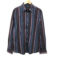 Marcs Mens Striped Shirt Size XL Button Up Multicolored Long Sleeve Regular Fit