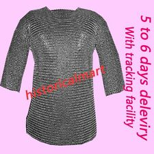 Chainmail 9mm Round Riveted Hubergion Half Sleeve Extra Large Size Shirt